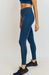 Perforated Cascade Wrap Seamless Highwaisted Leggings