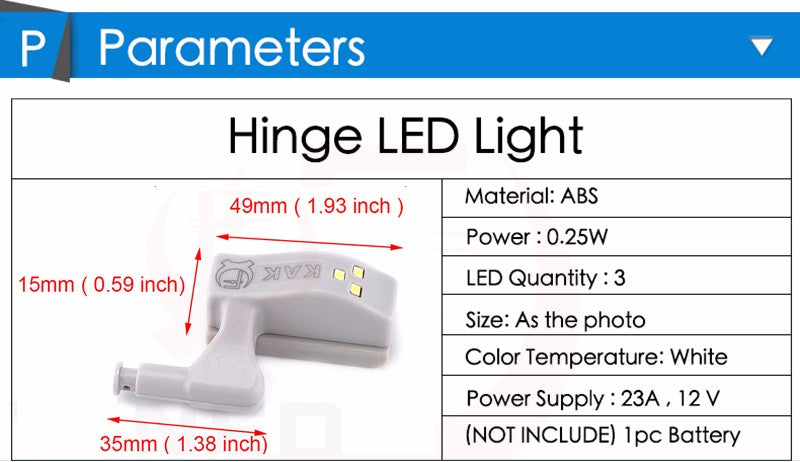 10PCS LED Cabinet Light