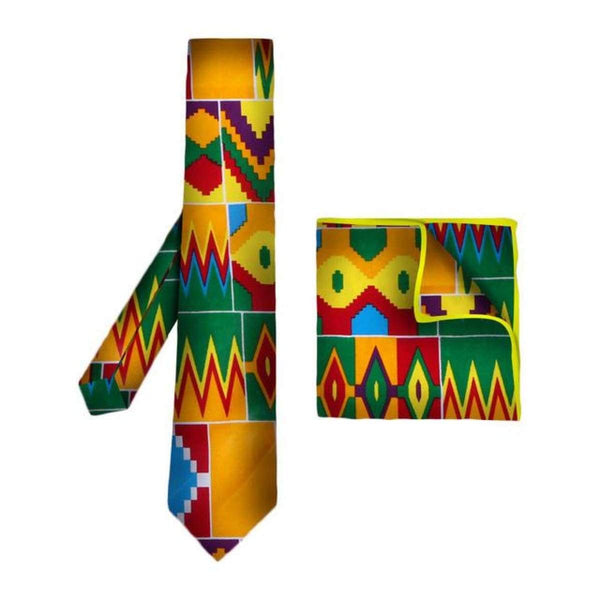 African Print Tie For Men Bohemia African %100 Cotton Print Fabric Gifts Q11784