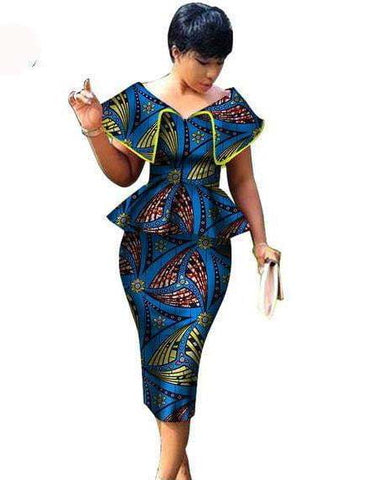 African Wax Print | 2 Pieces | Skirt Top
