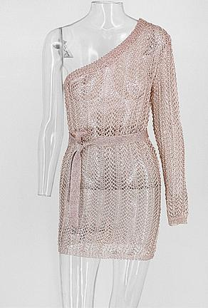 DANIELLE - METALLIC KNIT DRESS
