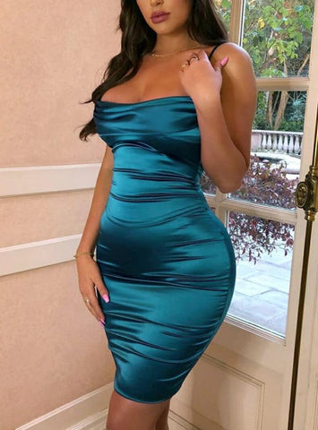 Women Sexy Off Shoulder Bodycon Dress