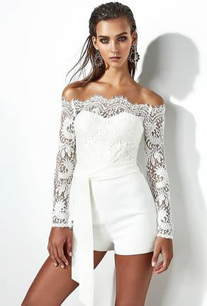 LESSIE - LACE TOP 1 PIECE SUIT