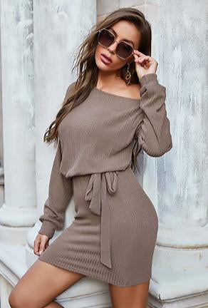 MARTA - RIB SWEATER DRESS