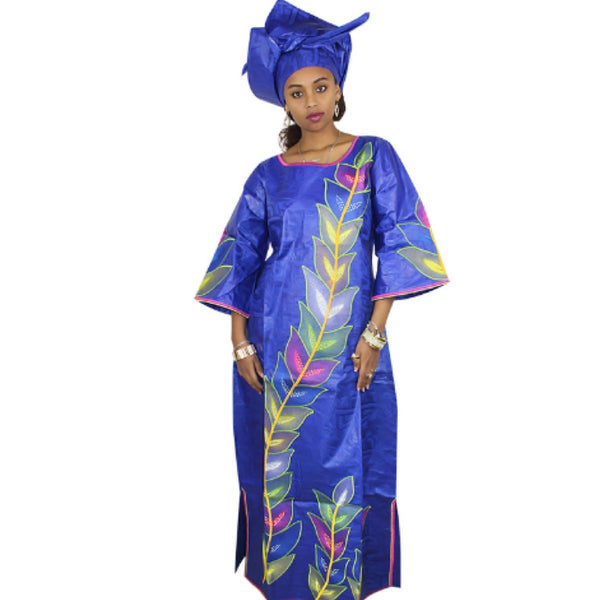 African Cloth For Women Traditional Embroidery Caftan Dashiki Long  X21281