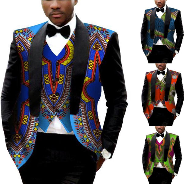 Dashiki Printed African Clothing Slin fit Suit Blazer Jacket with  Y10533