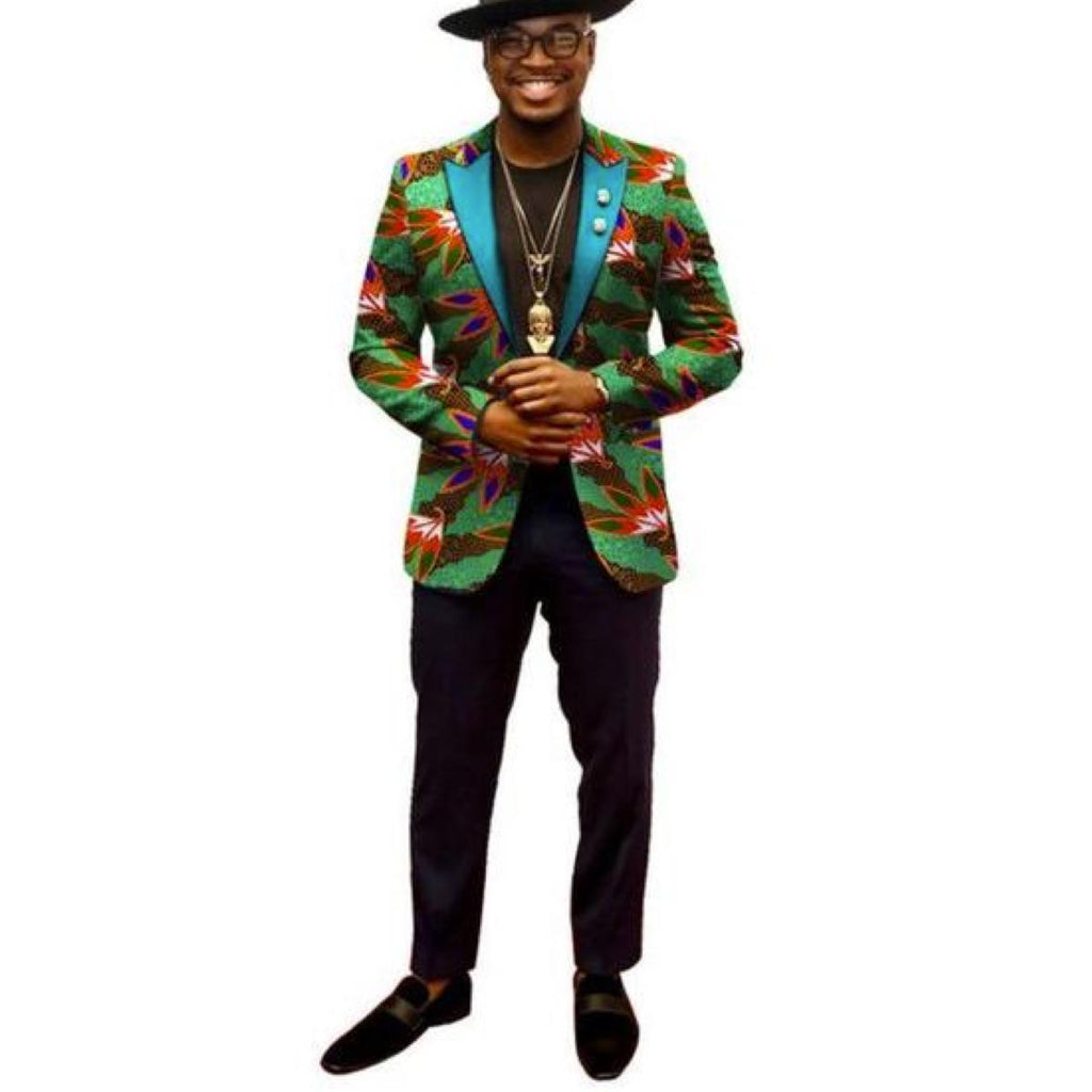 African Clothing For Men Long Sleeve Jacket Dashiki-Ankara Print Blazer Y10855