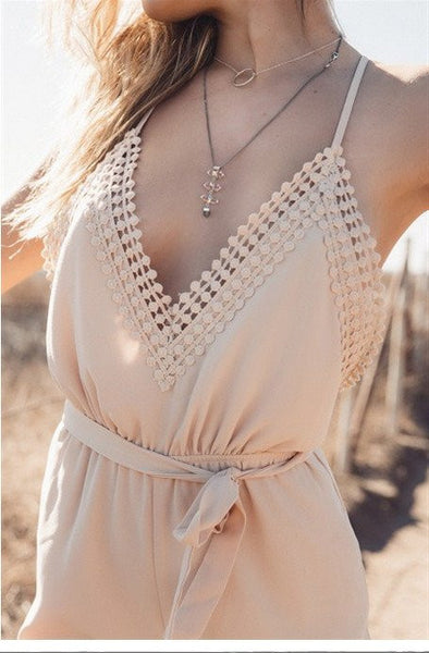 Worth It Deep V-Neck Romper
