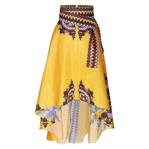 Traditional African Print Long Style Skirt