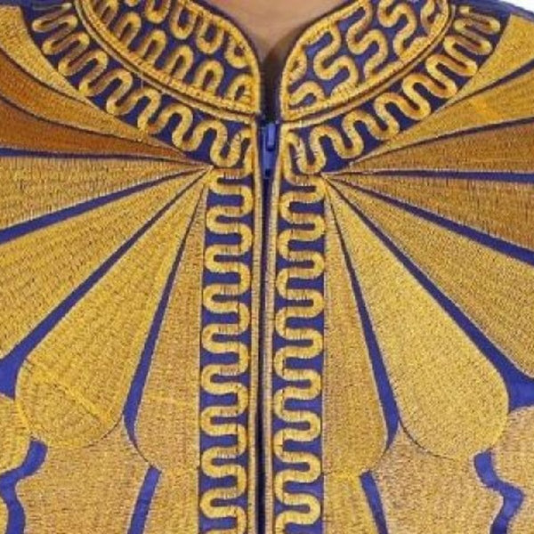 African Embroidery Brocade Dashiki Caftan Shirt with Pants 2-Piece Y20743