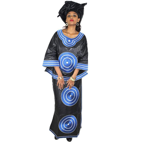 African Dress For Women Embroidered Bazin Riche Top-Skirt-Wrap Cloth X20943
