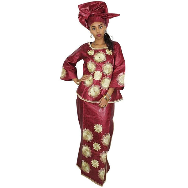 African Dresses For Women 100% Cotton New African Fashion Deisgn Baizn X20949