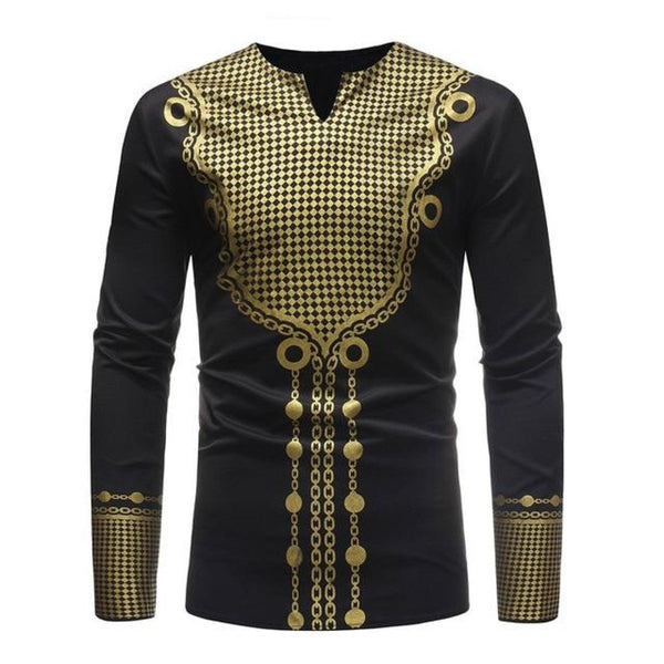Women/Men Africa Dashiki 3D Print Casual Hip Hop slim-fit Dress-Shirt Y10551