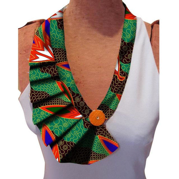 False Collar Bazin Riche African Handmade Accessories For Women Q11759