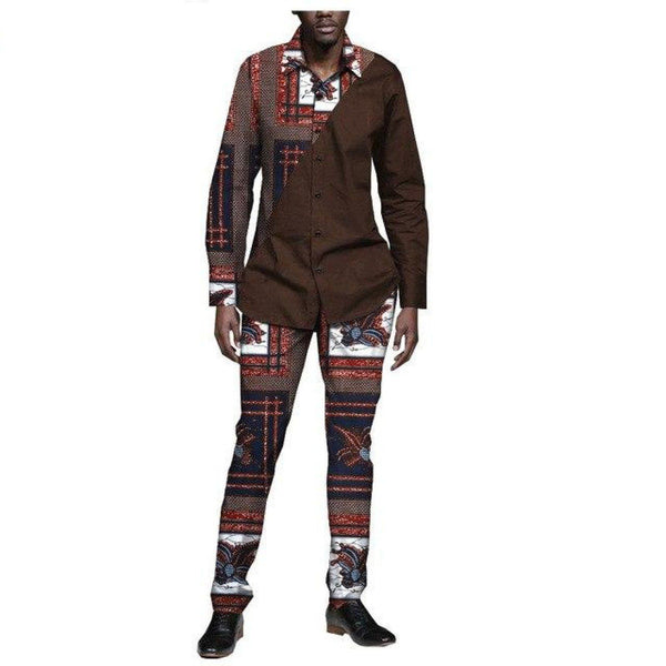Dashiki Casual long sleeve pants set for Y10806