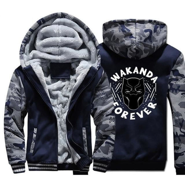 African Black Panther Wakanda Forever Killmonger Hooded Sweatshirt Y10513