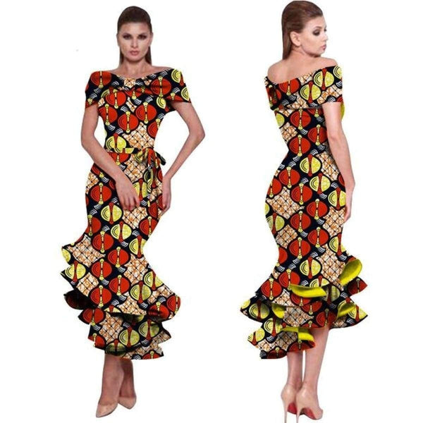 African Dresses For Women New Style Bazin Riche Fashion Party  X11453