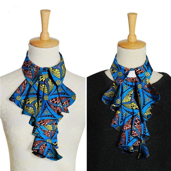 African Ankara Dashiki False Collar Fake Collars Women Blouse Bows Q11772