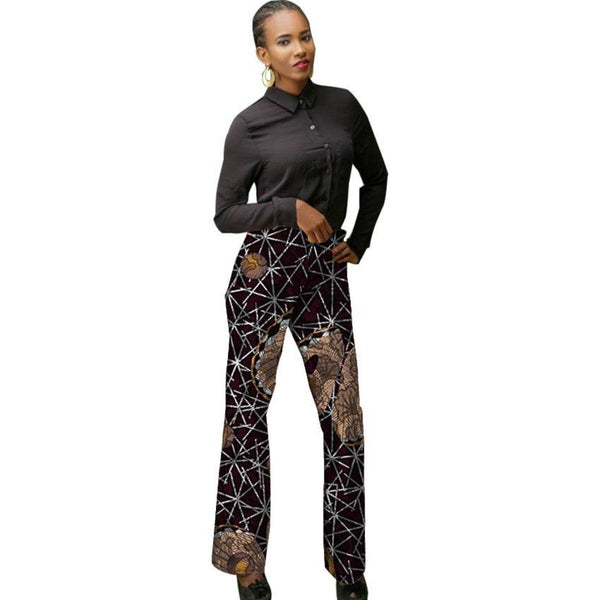 Women African Print Dashiki Pants for Ladies X10676