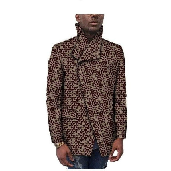 Dashiki African Men 100% Cotton Coat Outwear with Stand Collar Y10515