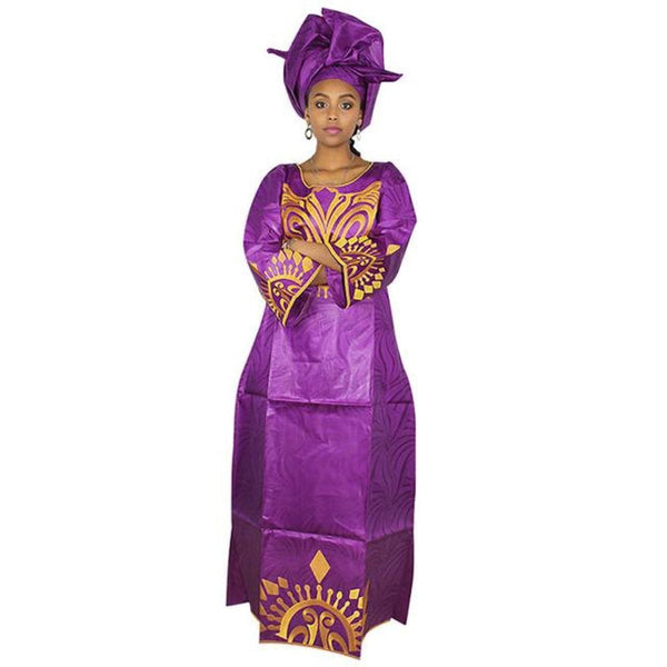 African Dresse For Women Bazin Riche Embroidery Design  X21279