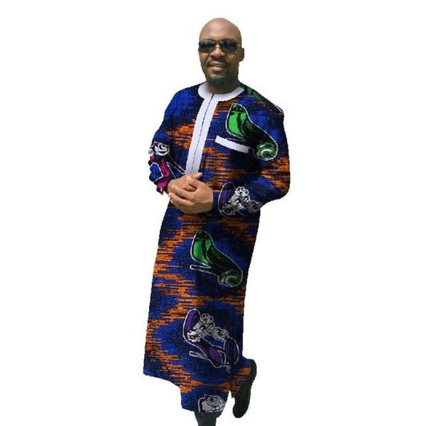African Traditional Clothing Dashiki For Men Plus Size Long Sleeve Long Y10844