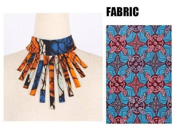 Ankara Fabric Necklace Hypoallergenic Bib Jewelry Exotic Hot Sale Q11780