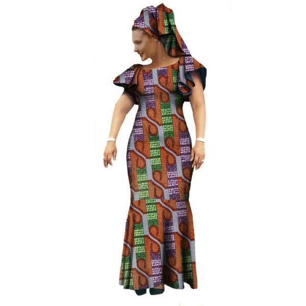 African Clothing ,Maxi Dress Style Long Dress For Women Cotton Print X11406
