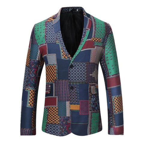 Traditional Dashiki Kanga Print Hip Hop Africaine Fitness Suit Jacket Y10529