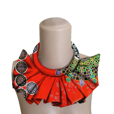 African Ankara False Collar Choke Necklaces For Women Dashiki Wax Print Q11771