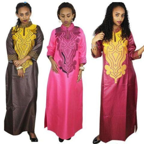 African Clothing For Women Dashiki Bazin Riche Long Sleeve Long X21165