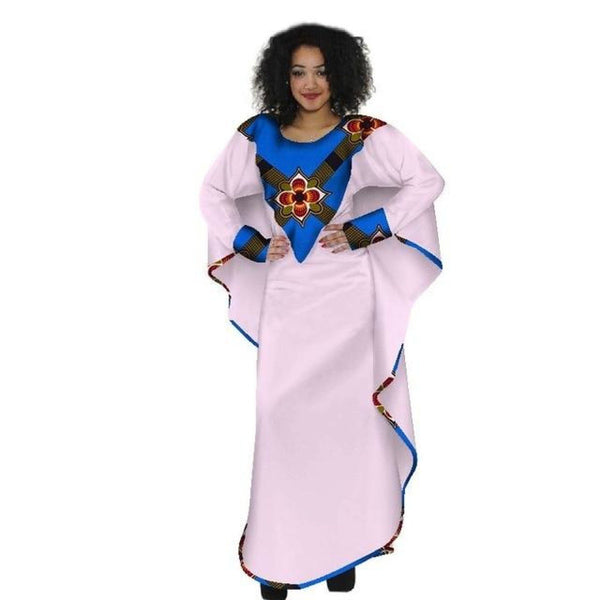 African Dashiki Wax Patchwork Slip Party Dress for X11348