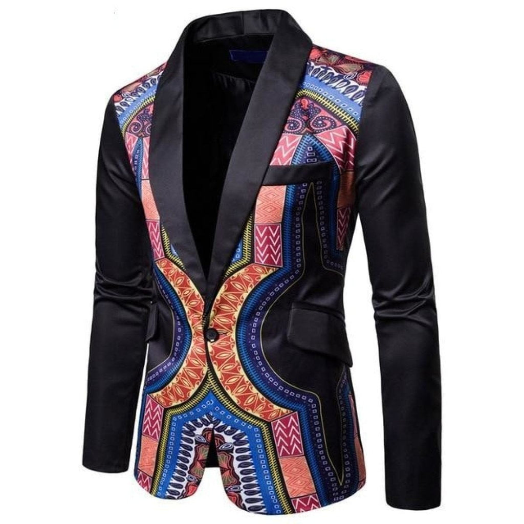Traditional Cultural African Hip Hop Blazer Dashiki Print Suit Jacket Y10528