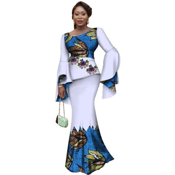 African Ankara Print 2Pieces Skirt Sets for X10985