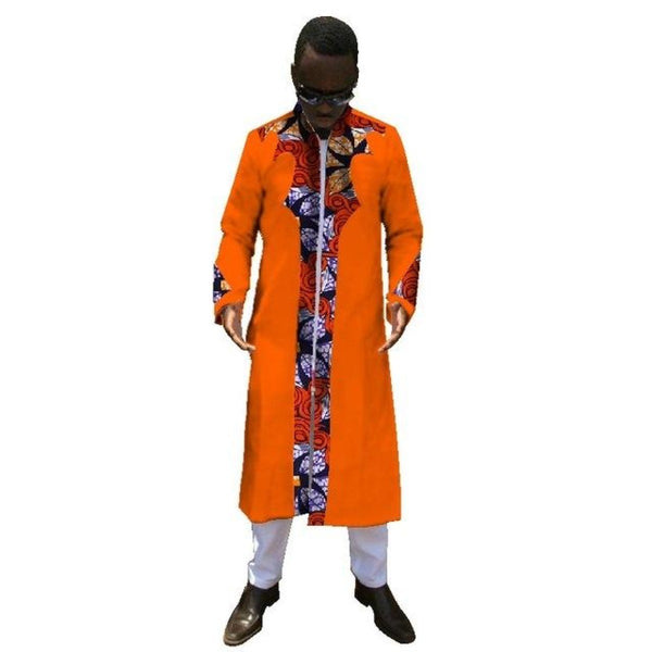 African Men Ankara Dashiki Clothing Long Sleeve Shirt Top-Pants Fashion Y10849