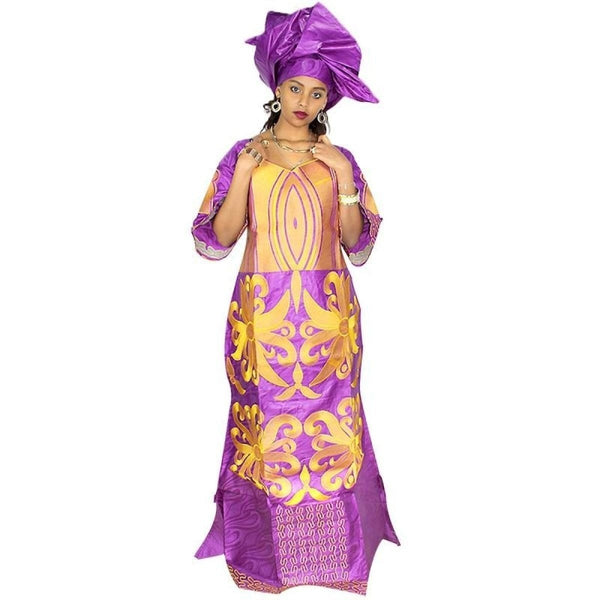 African Embroidery Dresses For Women Fashion Design Bazin Riche with X21256