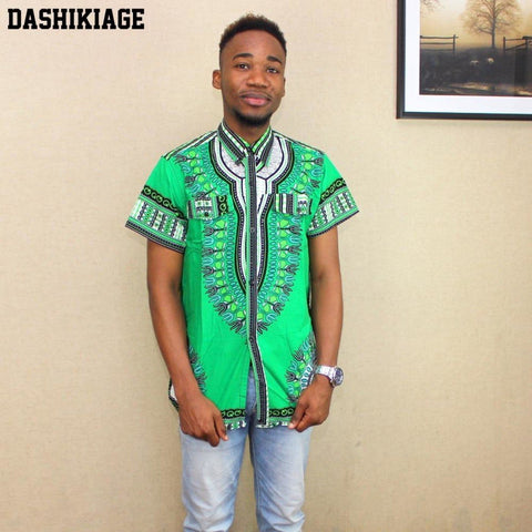 Unisex African Dashiki Traditional Shirt Ethnic Tribal Boho Top Y10561