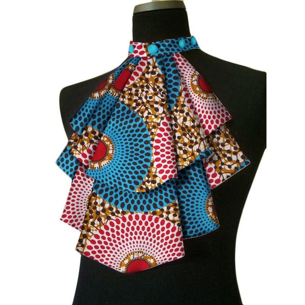 African Women Acccessories False Collar Dashiki Bowknot Detachable Q11755