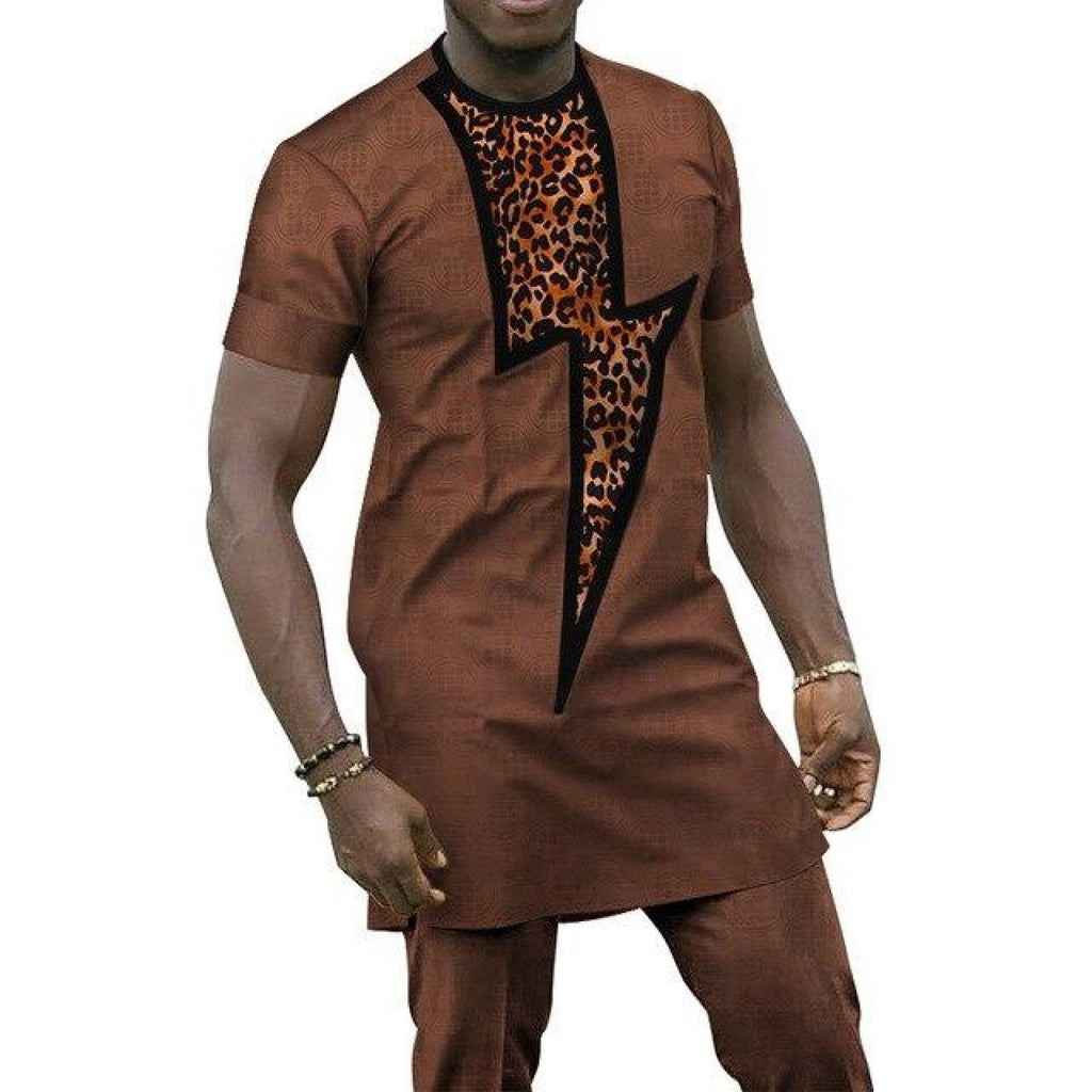 African Clothing Bazin Riche Patchwork 2 Pieces Pants Sets for Y10794