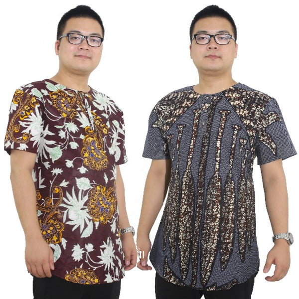 Traditionsl All African Bazin Riche Print Shirt For Men Y10508