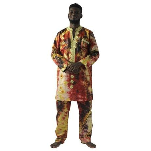 African Men Clothing Embroidery Top-Pants Traditional Dashiki Cotton Y20753