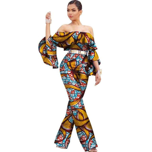 African Custom Clothing Women Dashiki Cotton Wax Print Romper X11545