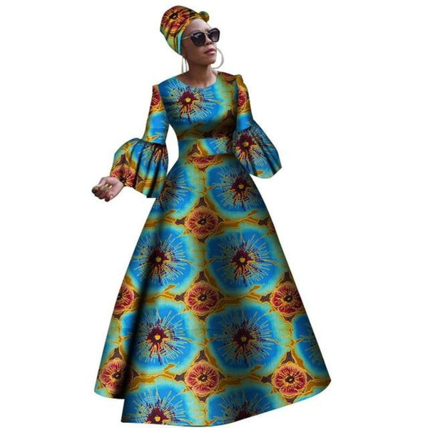 Dashiki Print Maxi African dresses for X11329