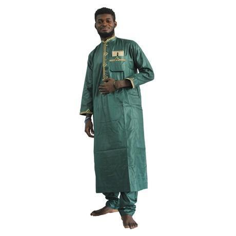 African Clothing Embroidered Dashiki Long Top and Pants  Y20765