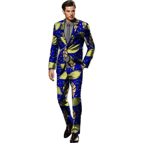 African Custom Made Blazer-Pants Sets Dashiki Suits Y10901