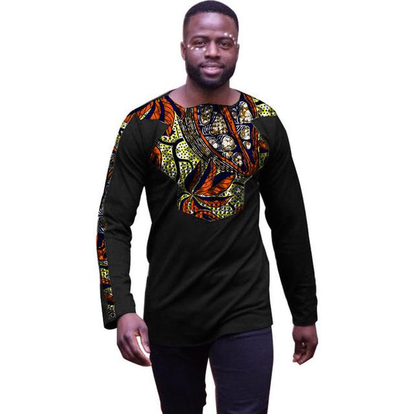 Customized Long Sleeve Shirt Dashiki Print Top Clothing For African Men Y10494