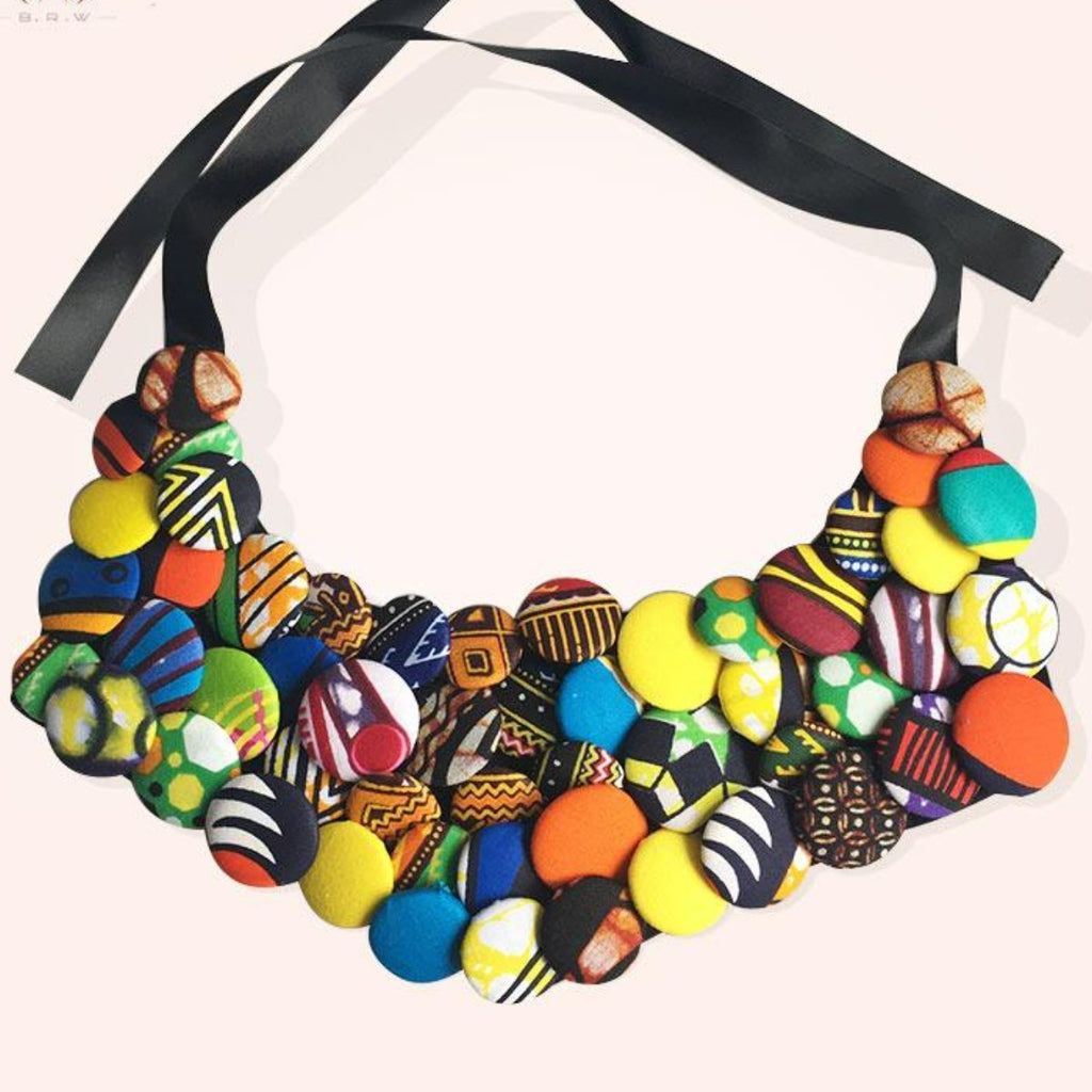Handmade Cotton Necklace African Accessories For Women Bohemia Q11791