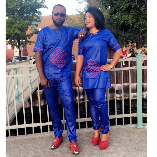 South Africa Couple Clothes African Dresses For Men and Women Dashiki V21635