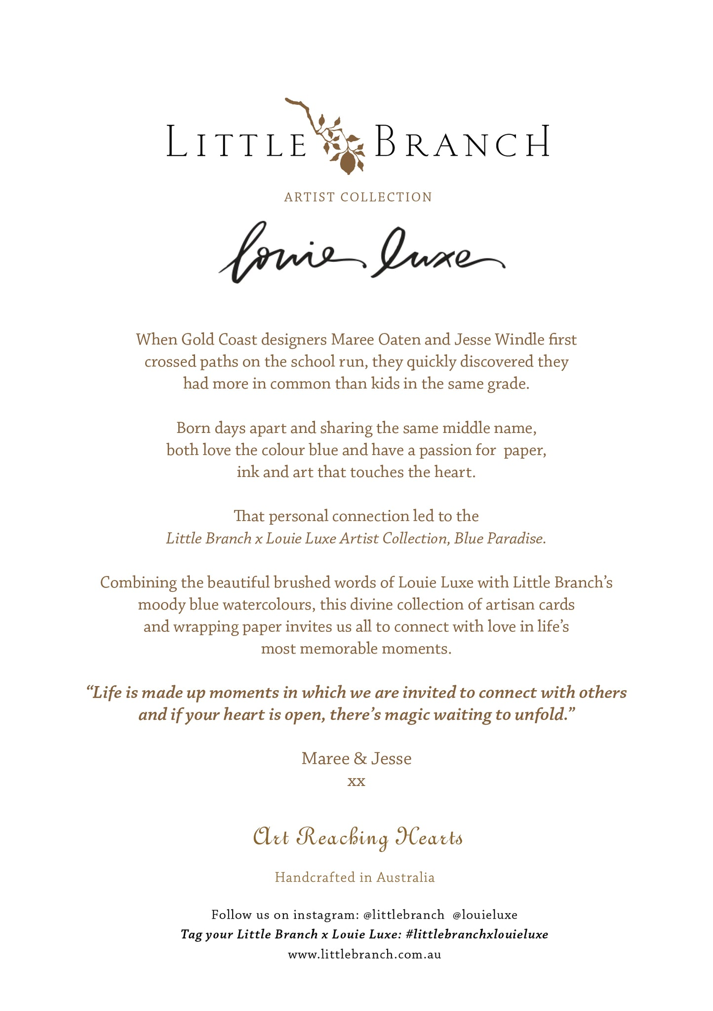 Little Branch x Louie Luxe Announcement