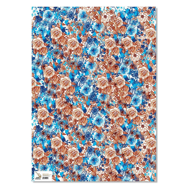 Wrapping Paper - Sepia Florals